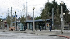 Willow Creek/Southwest 185th Avenue Transit Center - Platform at the station