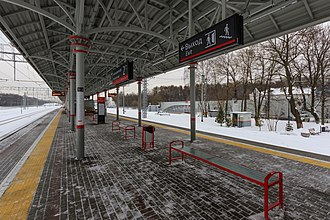 Belokamennaya (Moscow Central Circle) - Image: MCC 01 2017 img 06 Belokamennaya station