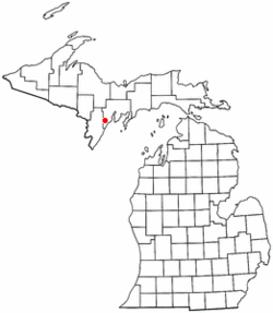 Location of Bark River Township in Michigan