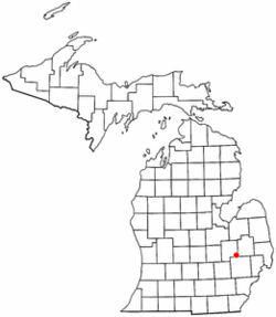 Location of Goodrich Schools within Genesee County, Michigan