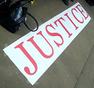 Justice for Michael Jackson demonstration in 2010