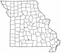 Location of Mansfield, Missouri