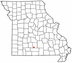 Mansfield, Missouri - Image: MO Map doton Mansfield