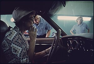 Defeat device - Auto emissions inspection in Norwood, Ohio, in 1975