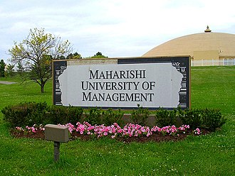 Maharishi University of Management - Golden dome for the group practice of the TM and TM-Sidhi programs
