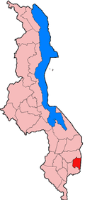 Location of Phalombe District in Malawi