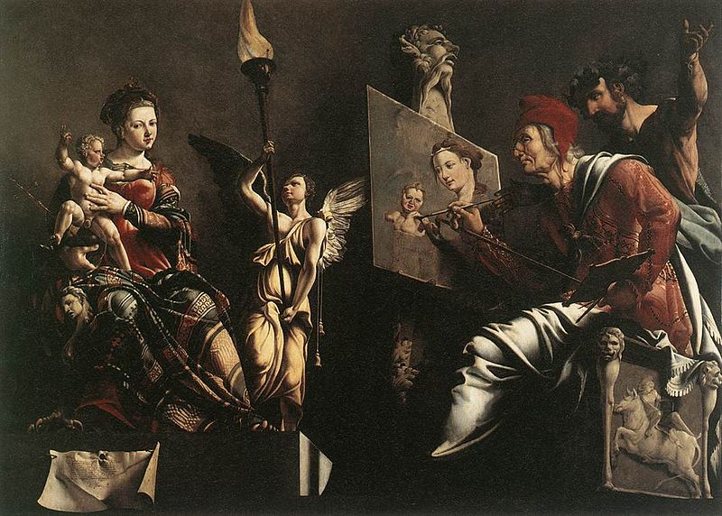 File:Maarten van Heemskerck - St Luke Painting the Virgin and Child - WGA11299.jpg