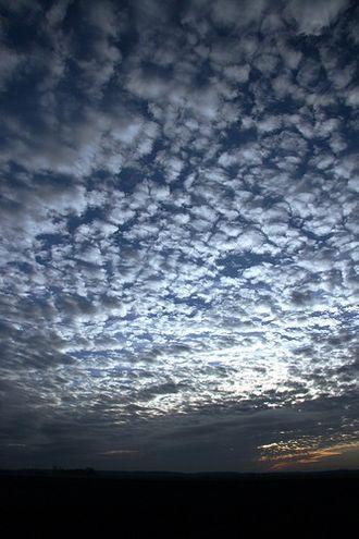 Mackerel sky - Image: Mackerelskylincolnsh ire