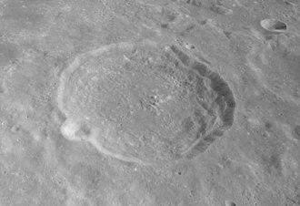 Macrobius (crater) - Oblique view from Apollo 17