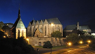 Magdeburg - The three churches at night
