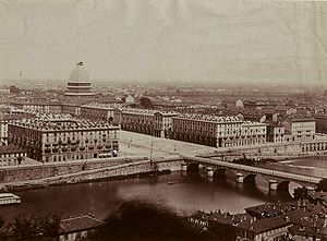 Timeline of Turin - Turin in the late 19th century, with the Mole Antonelliana under construction