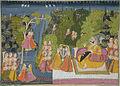Maharaja Kunwar Sri Fateh Singhji of Jodhpur in the garden with his harem (6124570209).jpg