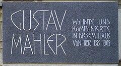 Gedenktafel am Wohnhaus in Wien,Rennweg 5 = Auenbruggergasse 2 (Quelle: Wikimedia)