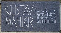 Photo of Gustav Mahler black plaque