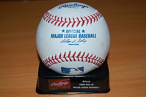 Official playing ball of the MLB