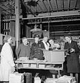 Making Shoes For the Wrens- the Manufacture of Footwear For the Women's Royal Naval Service at a Factory in the Midlands, England, UK, 1944 D23053.jpg