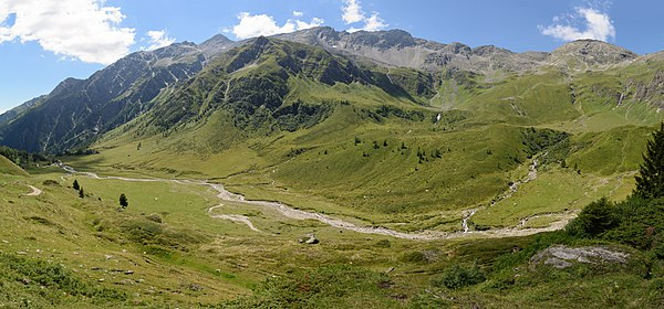 Alpine pasture Tauscherböden in the Tauern Valley near Mallnitz, Carinthia