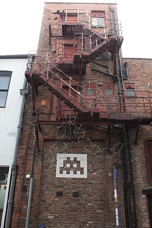 Invader (artist) - Image: Manchester Space Invader