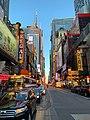 Manhattanhenge creating beautiful colors on West 42nd Street.jpg