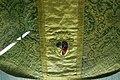Manifattura fiorentina, pianeta in lampasso, 1590-1610 ca, da s. prospero a cambiano 02 stemma cambi.JPG