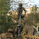 "Tarzan Heykeli (""the statue of Tarzan""), statue of Ahmet Bedevi in Manisa"