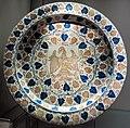 Manises, piatto con aquila tra tralci di vite, 1450-1500 ca..JPG