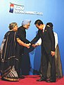 Manmohan Singh and his wife Smt. Gursharan Kaur with the President of South Korea, Mr. Lee Myung-bak and Mrs. Kim Yun'ok, at the welcome reception of G-20 Summit, at National Museum, in Seoul, South Korea (1).jpg