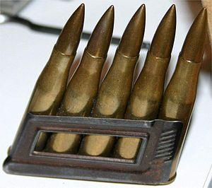 Mannlicher M1895 -  Spitzer bullet 8×56mmR cartridges