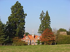 Manor House and church tower, Ham - geograph.org.uk - 1014735.jpg