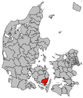 Svendborg Municipality - Image: Map DK Svendborg