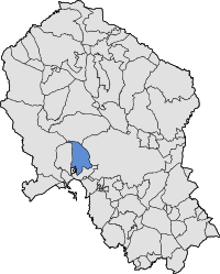 Map of Almodovar del Rio in the province.svg
