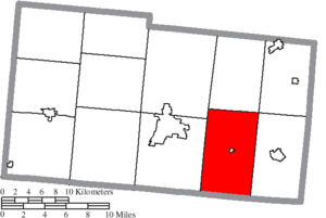 Union Township, Champaign County, Ohio - Image: Map of Champaign County Ohio Highlighting Union Township