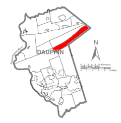 Map of Dauphin County, Pennsylvania Highlighting Rush Township.PNG