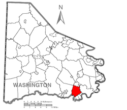 Location of Deemston in Washington County