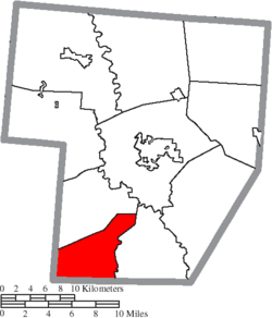 Location of Green Township in Fayette County