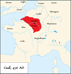 The Kingdom of Soissons in 476.[1]