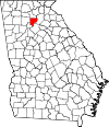 Map of Georgia highlighting Forsyth County.svg
