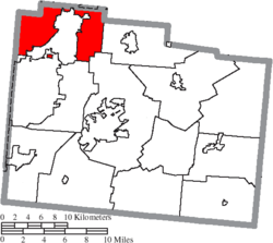 Location of Bath Township in Greene County
