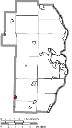 Location of Adena in Jefferson County