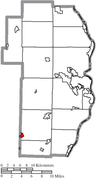 Adena, Ohio - Image: Map of Jefferson County Ohio Highlighting Adena Village