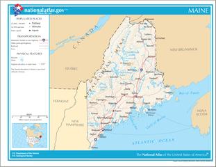 Landkarte von Maine