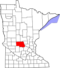 Map of Minnesota highlighting Stearns County.svg