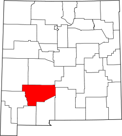 Harta e Sierra County në New Mexico