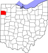 State map highlighting Paulding County