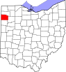 Map of Ohio highlighting Paulding County.svg