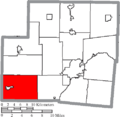 Map of Shelby County Ohio Highlighting Loramie Township.png