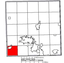 Location of Newton Township in Trumbull County