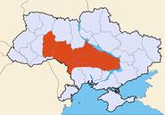 Map of Ukraine political Podolia