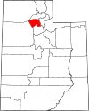 State map highlighting Davis County
