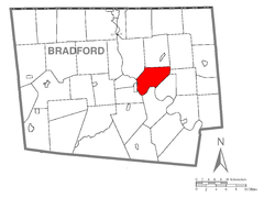Map of Wysox Township, Bradford County, Pennsylvania Highlighted.png
